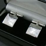 Personalised Silver Cufflinks (square) ref. SCLS
